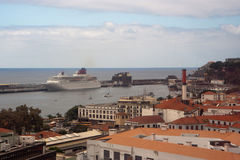 Funchal harbour, Madeira Stock Photo