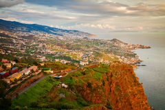 Funchal illuminated by sunset Royalty Free Stock Photos