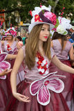 Funchal, Madeira - April 20, 2015: Dancers perform during of Flower parade at the Madeira Island Royalty Free Stock Image