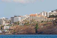 Funchal Madeira, hotellområde Arkivbild