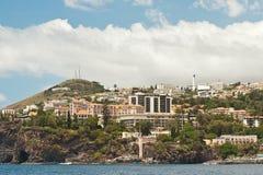 Funchal Madeira, hotellområde Royaltyfria Foton