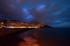 Funchal, Madeira at night. Stock Images
