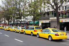 FUNCHAL, MADEIRA/PORTUGAL - APRIL 13 : Taxi rank in Funchal Made Stock Image