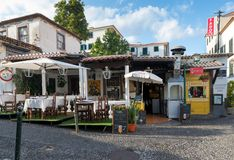FUNCHAL, MADEIRA, PORTUGAL - SEPTEMBER 9, 2017: open-air terrace Stock Image