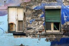 FUNCHAL, MADEIRA, PORTUGAL - SEPTEMBER 7, 2017: Ruinous facades Stock Photos