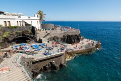 FUNCHAL, MADEIRA, PORTUGAL - SEPTEMBER 5, 2017: saltwater pools Stock Photo