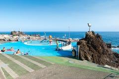 FUNCHAL, MADEIRA, PORTUGAL - SEPTEMBER 8, 2017: saltwater pools Stock Photos