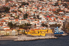 Funchal, Madeira seen from the sea. Royalty Free Stock Image