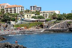 Hotel Resorts in Funchal, Madeira Royalty Free Stock Images