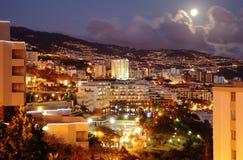 Funchal (Madera) bij nacht Royalty-vrije Stock Fotografie