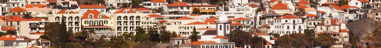 Funchal, Madera ha osservato dal mare Fotografie Stock