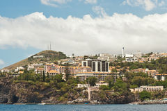 Funchal, Madera, hotelgebied Royalty-vrije Stock Foto's