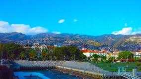Funchal, Madera, panorama, Portugal Royalty-vrije Stock Afbeeldingen