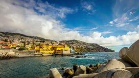 Funchal, Madera, Portogallo - lasso di tempo e panorama 360C video d archivio
