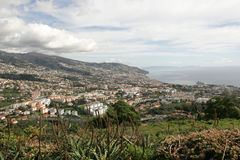 Funchal panorama stock photography