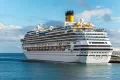 Cruise ship Costa Favolosa in Madeira Island Royalty Free Stock Photography