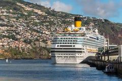 Cruise ship Costa Favolosa at Madeira Island Stock Image