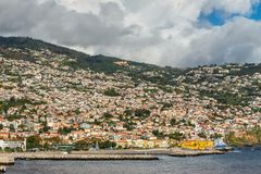 Cityscape of Funchal, Madeira Island, Portugal Stock Photography