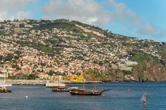Seafront of Funchal in Madeira island, Portugal Stock Photos
