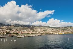 Cityscape of Funchal, Madeira Island, Portugal Stock Image