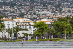 FUNCHAL, PORTUGAL - JUNE 25: Funchal city at summer time on  Jun Stock Photography