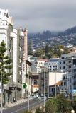 FUNCHAL, PORTUGAL - 25. JUNI: Funchal-Stadt zur Sommerzeit im Juni Stockbilder