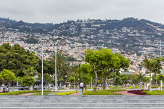 FUNCHAL, PORTUGAL - 25. JUNI: Funchal-Stadt zur Sommerzeit im Juni Stockfotografie