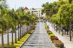FUNCHAL, PORTUGAL - 25. JUNI: Funchal-Stadt zur Sommerzeit im Juni Lizenzfreie Stockfotos