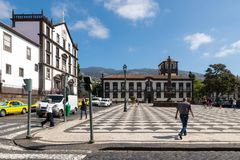 FUNCHAL, PORTUGAL - SEPTEMBER 7, 2017: View of the historical Pr Stock Image