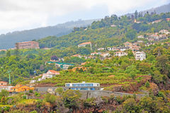 Funchal ropeway Jardim Botanico, madera Obraz Stock