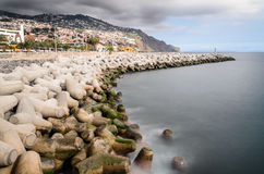 Funchal sea defences Royalty Free Stock Image