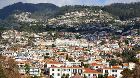 Funchal from seafront, Madeira, Portugal Royalty Free Stock Photography