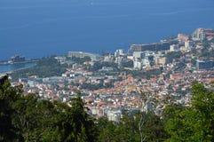Funchal sikt från Monte royaltyfri bild