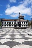 Funchal stadshusfyrkant, madeira Royaltyfria Foton