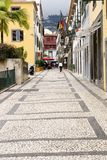 Funchal Street Scene Stock Photo