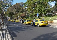 The Funchal Taxi Shuffle stock image