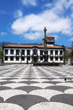 Funchal town hall square, Madeira Royalty Free Stock Photos