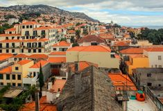 Funchal. View over Funchal. Island Madeira stock photos