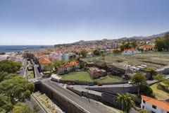 Funchal-Vogelperspektive stockfotos