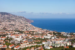 Funchal-Vogelperspektive lizenzfreie stockfotografie