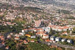 Funchal-Vogelperspektive lizenzfreie stockbilder