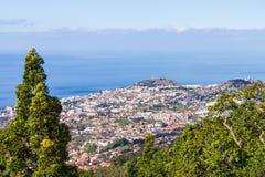 Funchal-Vogelperspektive, Madeira stockfotografie