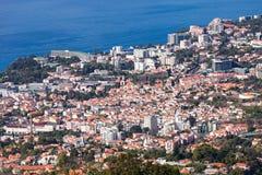 Funchal-Vogelperspektive, Madeira lizenzfreie stockbilder