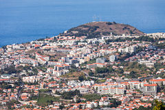 Funchal-Vogelperspektive, Madeira stockfotos