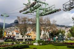 Funchal wagon kolei linowej zdjęcia stock