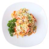 Funchoza salad Stock Image