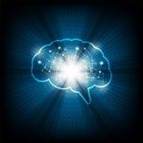 Función del cerebro de la tecnología del vector Foto de archivo libre de regalías