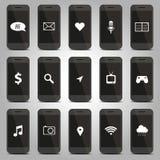 Función del icono del modelo del teléfono móvil Imagen de archivo libre de regalías