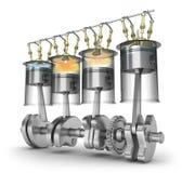 Función del motor - principio de funcionamiento libre illustration