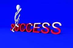 Funcionamento ao sucesso ilustração stock